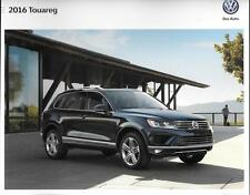 2016 16  VW Touareg  original Sales brochure MINT