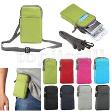 Multifunction Wallet Nylon Fabric Belt Loop Strap Hook Cover Case Lot Pouch