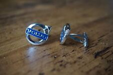 VOLVO CHROME CUFFLINKS GREAT QUALITY NEW FREE POUCH