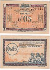 Francia ocupada Alemania/- Rheinland Franco 1923 AU-NO CIRCULADO 0.05 billete de ferrocarril