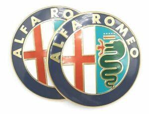2x Logo Embleme capot coffre calandre ALFA ROMEO MITO GIULIETTA 147 156 159 74mm