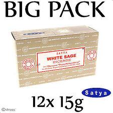 WHITE SAGE von Satya BIG PACK 12 x 15g Räucherstäbchen Agarbathi