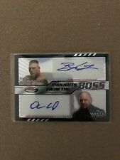 2012 TOPPS THOUGHTS FROM THE BOSS BROCK LESNAR DANA WHITE AUTOGRAPH CARD RARE