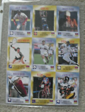 1997 SI Sports Illustrated for Kids Uncut Card Sheet with Derek Jeter