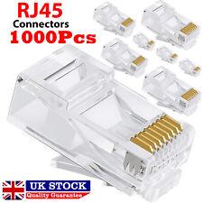 1000X RJ45 Cat5e Cat6 Network Ethernet LAN Patch Cable Plug End Connectors LOT