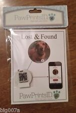 Paw Prints ID Smart ID Tag.  QR tag for easy access to lost pets info. Dog, Cat
