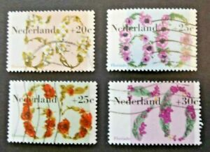 NETHERLANDS USED 1982 FLORIADE 4 VALUE VF COMPLETE SET SC # B577 - B580