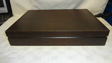 Vintage Empty Wooden Cutlery Box/Canteen For 6 Place Setting Green Interior