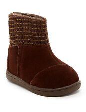 New! TOMS Girls Suede Metallic Nepal Winter Boot Dark Brown Color Kids Size 4