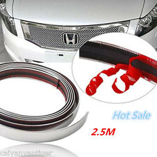2.5m Chrome Moulding Trim Strip Car Door Edge Scratch Guard Strip Protector New!