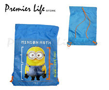Minions Drawstring Trainer Bag Despicable Me Fan Kids Swimming Gym Sports Beach