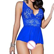 femme lacets sexy Passion lingerie dos-nu licou Nuisette G-string robe + SLIP