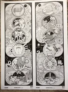 Giant Astrology posters.