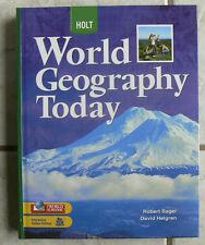 Holt WORLD GEOGRAPHY gr.9-12 C.Salter HB 2008 BRAND NEW TEXT