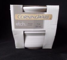 Corning Ware FRENCH WHITE Stoneware RAMEKINS 7OZ SQUARE *New set of 2