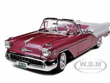 1957 OLDSMOBILE SUPER 88 PURPLE 1/18 DIECAST MODEL CAR BY ROAD SIGNATURE 92758