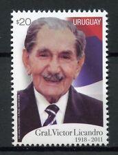Uruguay 2018 MNH General Victor Licandro 1v Set Politicians Military Stamps
