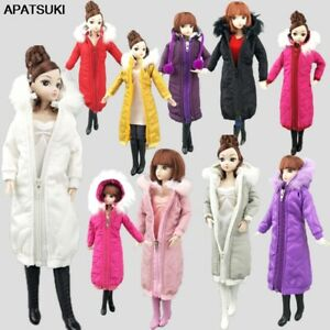 Long Coat Dress for 11.5in. Doll Clothes Hoodie Parka For 1/6 BJD Doll Jacket