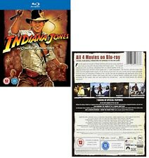 INDIANA JONES 1-4 (1981-2008) COMPLETE ADVENTURE COLLECTION NEW Reg Free BLU-RAY
