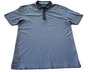 Travis Mathew Shirt Size Large Gray Polo Men's Golf Shirt Wolf Creek Logo