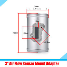 "3"" Car Air Flow Sensor Mount Adapter Connector  Increase Power Silver Aluminum"