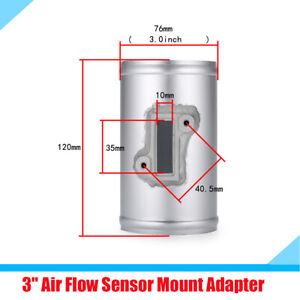 "3"" Car Air Flow Sensor Mount Adapter Connector  Increase Power Silver Aluminum"