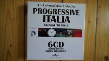 Progressive Italia Gli Anni 70 Vol.6 6 CD Box Set sehr selten rar