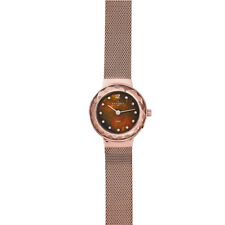 Skagen Leonora Rose Gold Tone Steel Mesh Watch 456SRR1