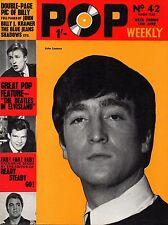 Pop Weekly Magazine 13 June 1964   John Lennon   Billy Fury   The Rolling Stones