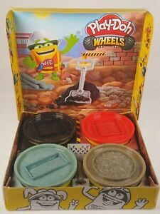 NEW Play-Doh Wheels Buildin' Compound 4-Pack Bundle of Extra Large Cans Nontoxic