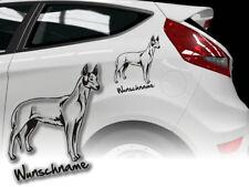 Aufkleber Ibizan Hound Podenco Ibicenco Balearen-Hund H228 Wunschname Auto