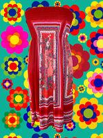 G48✪ Indian Hippie Spirit Gipsy Tunika Kleid Hängerchen Folk Boho Gr. S- M