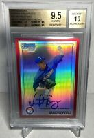 2010 Bowman Chrome Red Refractors Martin Perez 3/5 Gem Mint BGS 9.5 10 Auto RC