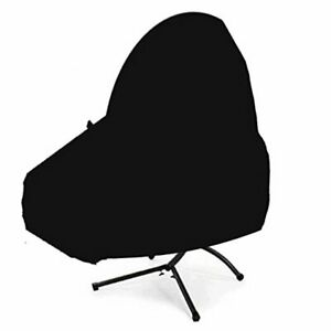 Waterproof Patio Hanging Chaise Lounge and Stand Cover Outdoor Hanging Black