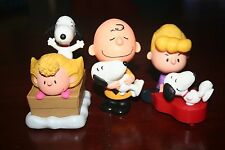 Lot 3 figures: Charlie Brown, Sally and Schroeder with Snoopy ( Peanuts ) 2015