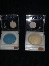 2 Vintage Revlon Colorfrost Pan Eye Shadows Aqua Flash & Ipanema Gold New