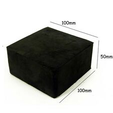 "JEWELLERS RUBBER DAPPING BENCH BLOCK 4"" X 4"" X 2"" JEWELLERY MAKING"