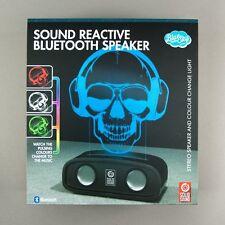Sound Reactive Bluetooth Speaker Sound Skull and Colour Change Light