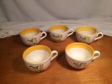 5 (five) Stangl Pottery Tulip Coffee Cups 8 Ounce /All Cups Have Imperfections
