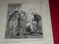CHAM / LITHOGRAPHIE ORIGINALE CHARIVARI 1865 / ACTUALITES 259 A. DUMAS fils