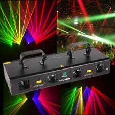 4 Lens 4 Beam RGPY DJ Disco Laser Light Stage Lighting Party KTV DMX 7CH 460mW