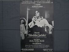 Ibsen's Hedda Gabler Theatre Poster The Actor's Playhouse (Circa 1970)