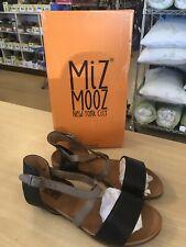 Miz Mooz Amanda Black Leather Cross Strap Sandals - EU 39 (US 8.5-9)