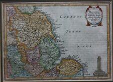 Antique map, EAST ENGLAND, YORKSHIRE, ATLAS MINOR, Mercator, Jansson, c.1650