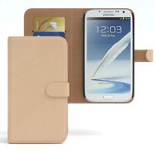 Tasche für Samsung Galaxy Note 2 Case Wallet Schutz Hülle Cover Hellbraun