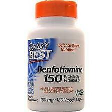 Doctor's Best Benfotiamine With Benfopure 150 MG 120 Veggie Caps