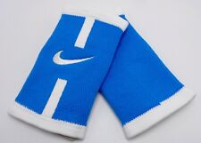 Nike Stealth Doublewide Wristbands Court Logo Lt Photo Blue/White