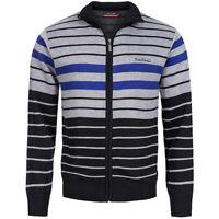 Pierre Cardin Herren Zipper Sweatjacke Men Sweat Jacket Gr XL Silver Black neu