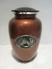 213 Equestrian Adult Metal Cremation Urn - with FREE Engraved ID Tag!
