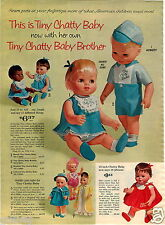 1964 PAPER AD 4 PG Tiny Chatty Baby Brother Black Thumbelina Alexander Kitten
